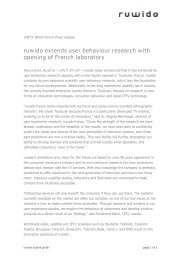 ruwido extends user behaviour research with opening of French ...