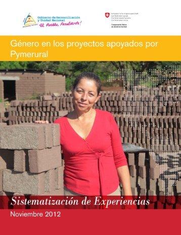 Género en los proyectos apoyados por PYMERURAL