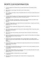 Worte zur Konfirmation (Auswahl von Bibelworten)