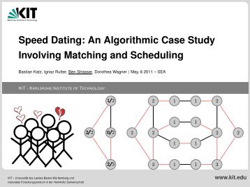 Speed Dating: An Algorithmic Case Study Involving Matching and ...