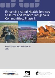 Enhancing Services to Rural and Remote Indigenous Communities