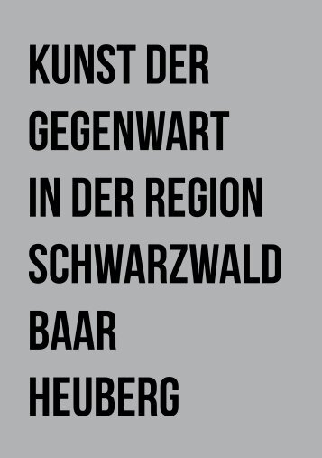Kunst der Gegenwart in der Region Schwarwald-Baar-Heuberg' (PDF)