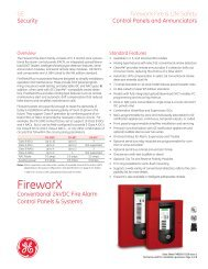 Data Sheet FX85005-0126 -- FireworX Conventional Fire Alarm ...