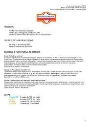 PROJETOS LOCAL E DATA DE REALIZAÇÃO ... - Instituto Ethos