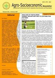 Agro-SocioeconomicNewsletter - Pusat Sosial Ekonomi dan ...