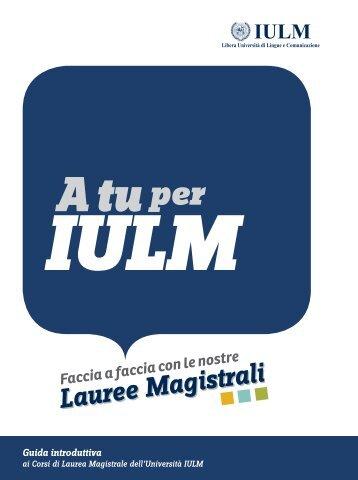 Lauree Magistrali - Iulm