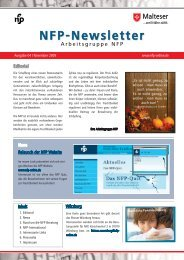 Newsletter 03/2009 - Arbeitsgruppe NFP