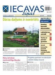 laikraksts «Iecavas Ziņas» 1. un 3. lpp. 09.07.2010
