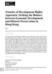 Transfer of Development Rights Approach: Striking the Balance ...