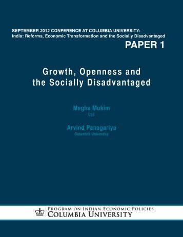 paper 1 - Program on Indian Economic Policies - Columbia University