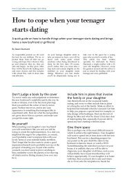 How to cope when your teenager starts dating - Dadcando