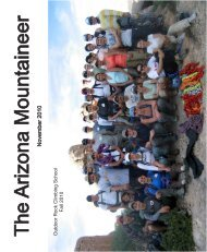 The Arizona Mountaineer - Arizona Mountaineering Club