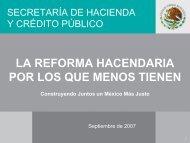 La Reforma Hacendaria por los que menos tienen - Indetec