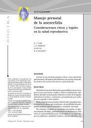 Manejo prenatal de la anencefalia