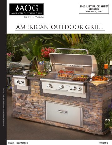 AMERICAN OUTDOOR GRILL - RH Peterson Co.