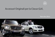 Accessori Originali per la Classe GLK. - Mercedes Benz Assistenza