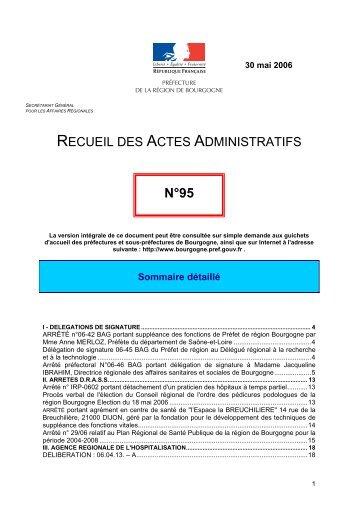 mai 2006 - Préfecture de la Région Bourgogne et de la Côte-d'Or