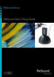 ReSound Verso Fitting Guide