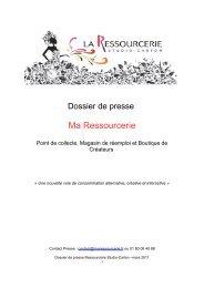 Dossier de presse La ressourcerie - Kiagi.org