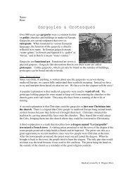 Gargoyle Handout