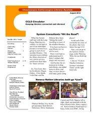 """Seneca Nation Libraries both go """"Live""""! - Chautauqua-Cattaraugus ..."""