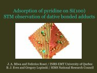 Adsorption of pyridine on Si(100) STM observation of dative ... - INRS
