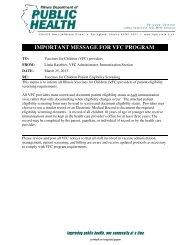 IMPORTANT MESSAGE FOR VFC PROGRAM