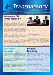 Jul – Dec 2009 - Transparency International