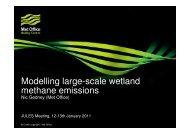 Modelling large-scale wetland methane emissions - JULES