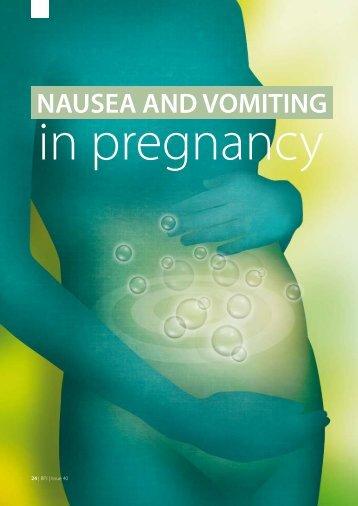 NAUSEA AND VOMITING – In pregnancy 24 | BPJ - Bpac.org.nz