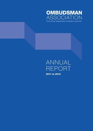 Annual Report 2011-12 - British and Irish Ombudsman Association