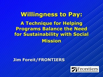 Willingness to Pay: - (SHOPS) project