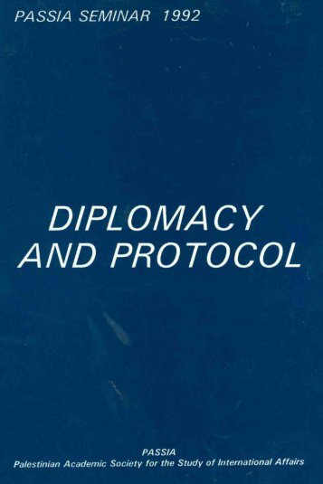 Diplomacy and Protocol - PASSIA Online Store