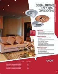 general purpose low voltage downlighting - LITON Lighting