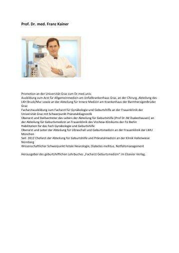 Prof. Dr. med. Franz Kainer