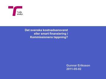 Finansiering, Eriksson Trafikanalys