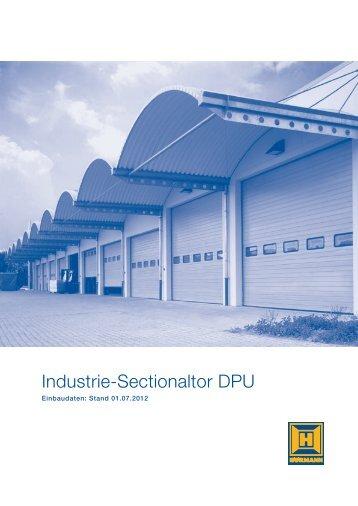 Einbaudaten Industrie-Sectionaltore DPU - Hörmann KG