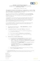 certification regarding correspondent accounts for foreign banks - BDO