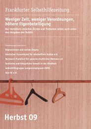 Herbst 09 - Selbsthilfe-Kontaktstelle Frankfurt e.V.