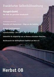 Herbst 08 - Selbsthilfe-Kontaktstelle Frankfurt e.V.