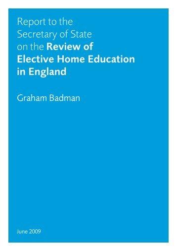 Badman report - South West Surrey Home Education