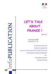 Parlez de la France ! - N°27, novembre 2007 - Consulat général de ...
