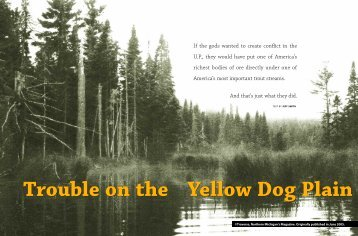 Trouble On The Yellow Dog Plain - Save Our Sky Blue Waters