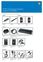 TETRA Accessories Snapshot Suitable for MTP850