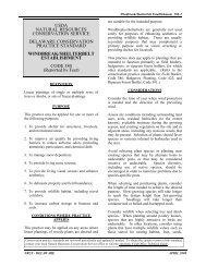 Windbreak/Shelterbelt Establishment - Delaware Department of ...