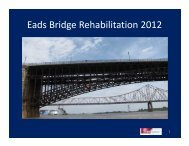 Eads Bridge Rehabilitation 2012