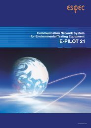 The Second Stage Toward an Environmental Test Network E-PILOT ...