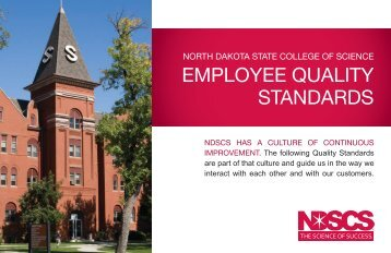 employee quality standards - North Dakota State College of Science