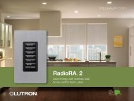 RadioRA® 2 - Hill Residential Systems