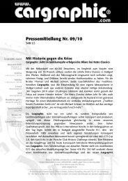 09/10 Mit Historie gegen die Krise - Cargraphic